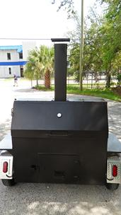 Wood burning smoker trailer