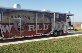 bbq concession trailer, food trailer, catering trailer